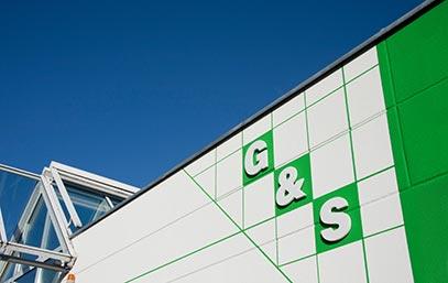G&S Brandschutz: Logo am Firmensitz in Mogendorf/Rheinland-Pfalz