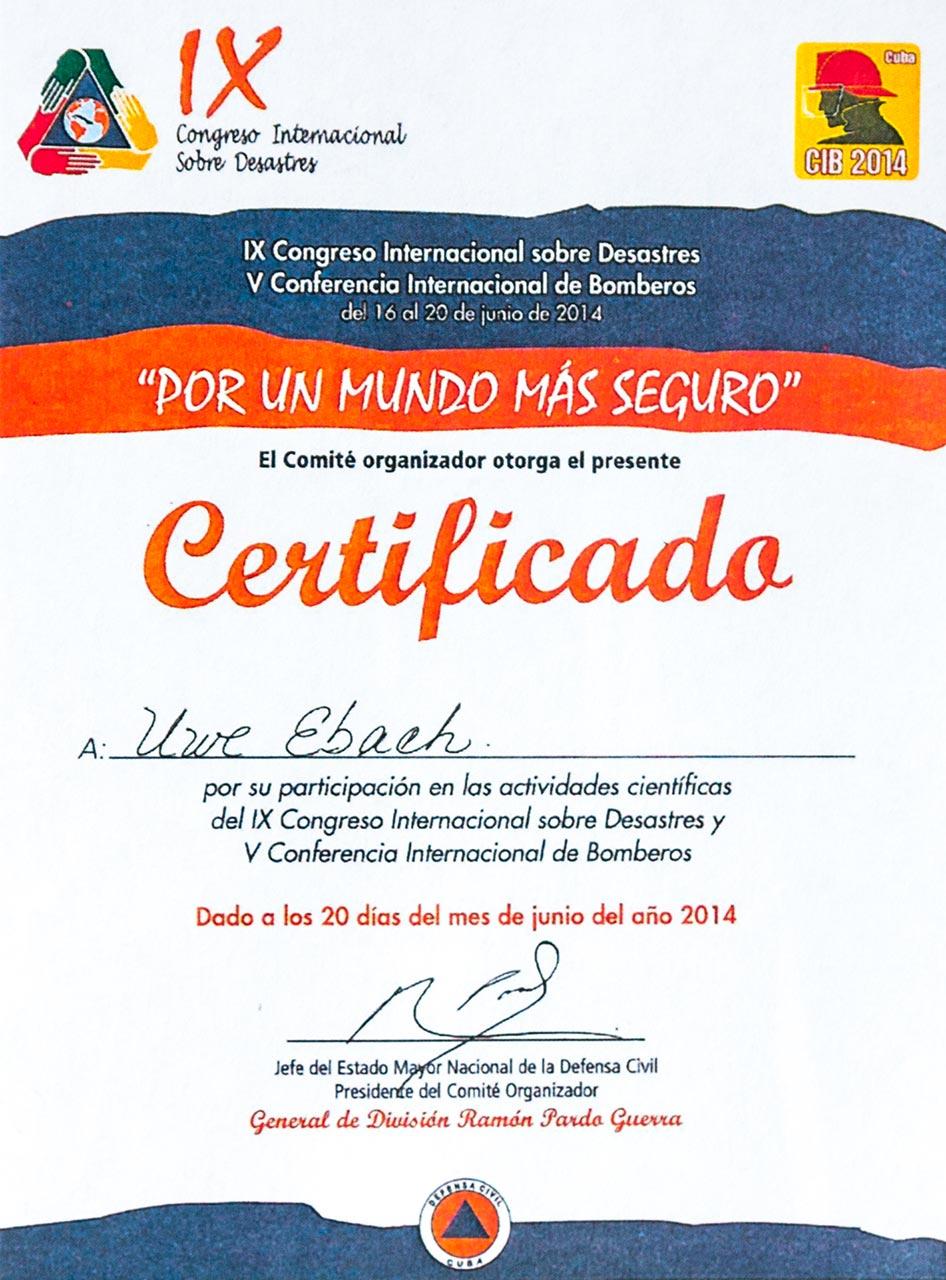 G&S Brandschutz auf der CIB 2014 in Havanna