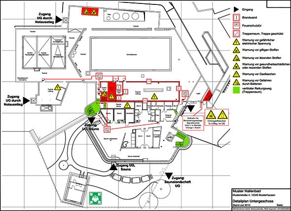 Beispiel für Feuerwehreinsatzplan/Detailplan