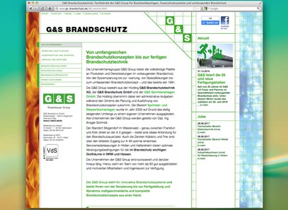 Screenshot der gs-brandschutz-Website bis 2018