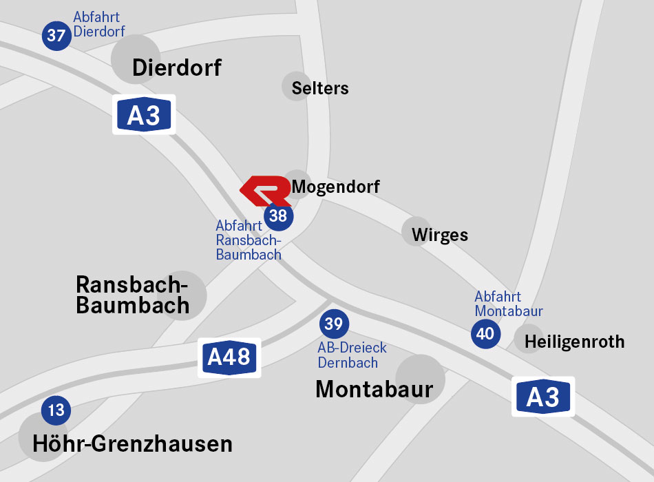 Anfahrtskizze zu G&S Standort Mogendorf